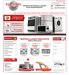 Catalogo e-commerce elettrodomestici